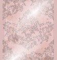 vintage baroque pattern texture ornament vector image vector image
