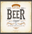 vintage beer label for bottle vector image