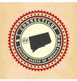 Vintage label-sticker cards of Connecticut vector image
