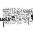 web analytics and seo text word cloud concept vector image vector image