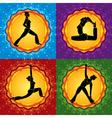 yoga square vector image vector image