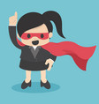 confident super business woman hero vector image