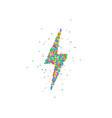 lightning flat icons vector image