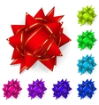 Set of bows of multicolored ribbons vector image