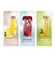 detox drinks banners set vector image