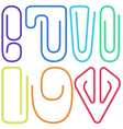 Paperclips collection vector image