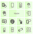 14 touch icons vector image vector image