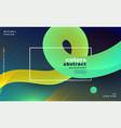 abstract bright gradient fluid loop background vector image