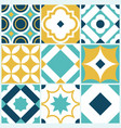 azulejo seamless tile pattern vintage decorative vector image vector image