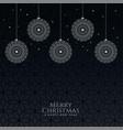 beautiful decorative christmas balls on black vector image vector image