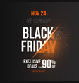 black friday poster template with explosion effect vector image