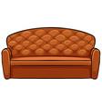Brown sofa vector image vector image