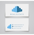 Busines card template Real estate logo vector image vector image
