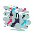 business saving money cartoon vector image vector image