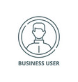 business user line icon business user vector image vector image
