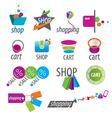 collection of logos shopping vector image