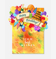 colorful doodle hand drawn holiday poster template vector image