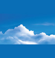 cumulus clouds on bright blue sky vector image