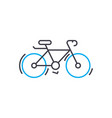cycle thin line stroke icon cycle outline vector image vector image