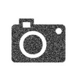 digital camera sign black icon from many vector image vector image
