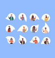 diverse social culture young people set isolated vector image vector image