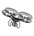 drone maneuvering icon simple style vector image vector image