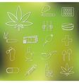 drug outline icons vector image