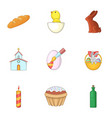 easter things icons set cartoon style vector image vector image
