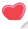 empty paper label with heart shape vector image vector image