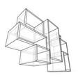 empty showcase outline vector image