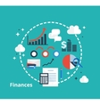 Finance and accounting concept for your design vector image
