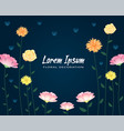 floral colorful and beautiful rose flowers and lea vector image