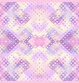 geometric abstract low poly pattern with hearts vector image