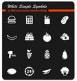 grocery simply icons vector image vector image