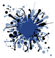 Grunge ink splat background blob vector image
