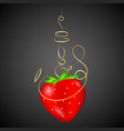 hookah strawberry vector image vector image