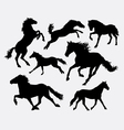 Horse pet animal action silhouette vector image vector image