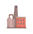 industrial building factory or plant vector image vector image
