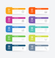 infographics 10 options vector image vector image