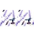 lavender watercolor pattern delicate vector image vector image