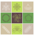 line art wreath vector image vector image