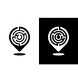 location pin icon with a labyrinth pattern vector image