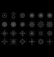 magic geometry white symbol set magic symbols vector image