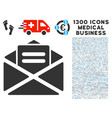 mail icon with 1300 medical business icons vector image vector image