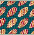 merry christmas balls seamless pattern vector image vector image
