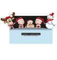 merrychristmas Greeting Card vector image