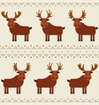 moose and elk seamless pattern with different vector image