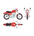 motorbike side view cycle transportation freedom vector image vector image