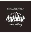 Mountains logo concept vector image vector image