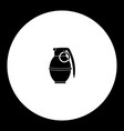 One military grenade simple black icon eps10